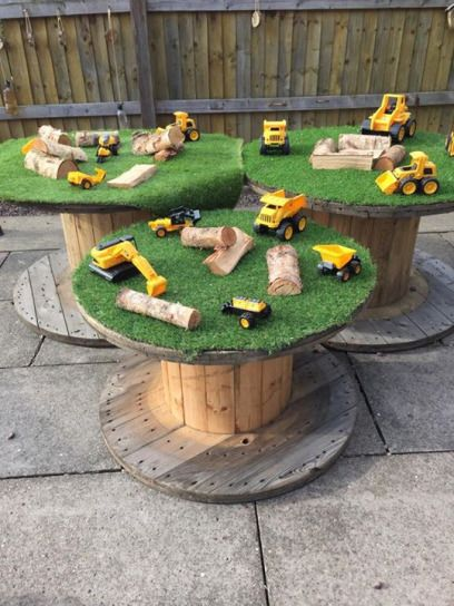 What to do with a cable reel? #cablespooltables