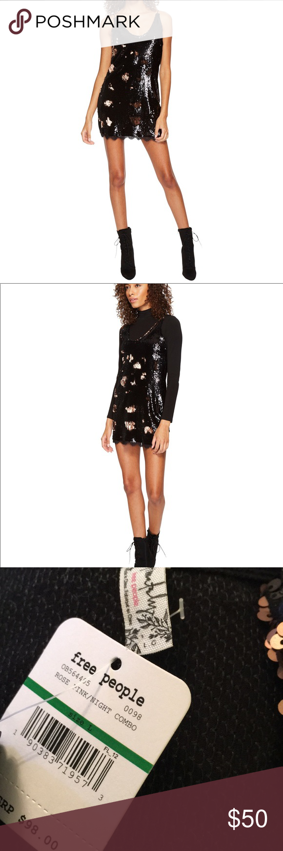 e3fd8f458dd38 Free People Seeing Double Sequin Slip Dress Base layer in second picture  not included. Shimmer and shine all night in this Free People™ Seeing Double  Sequin ...