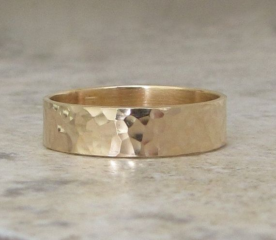 Gold Wedding Band Mens Wedding Ring Hammered Gold Ring 14k Engraved Customized Wedding Mens Gold Wedding Band 14k Gold Wedding Ring Mens Wedding Bands Hammered