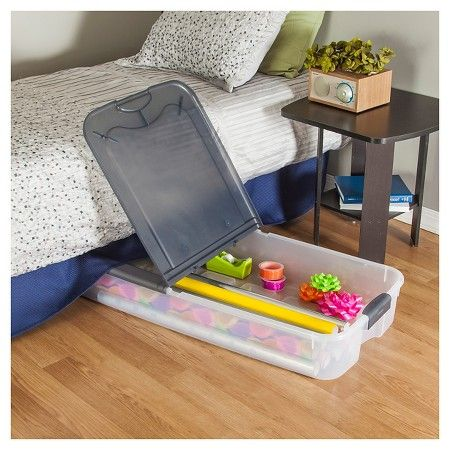 Sterilite Under Bed Storage Mesmerizing Sterilite® Ultra™ 74 Qt Clear Underbed Storage Tote  Clear With Design Inspiration