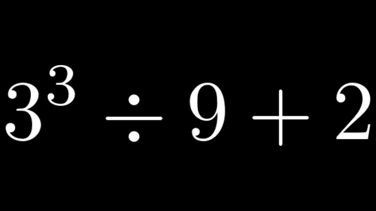 Learn How To Simplify A Number Expression With Exponents Division And Exponents Math Videos Expressions