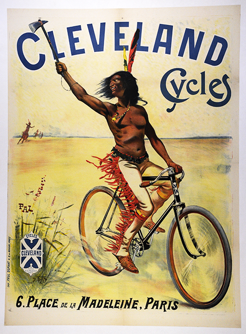 Wall art. Reproduction vintage cycling advertising poster Cycles automoto