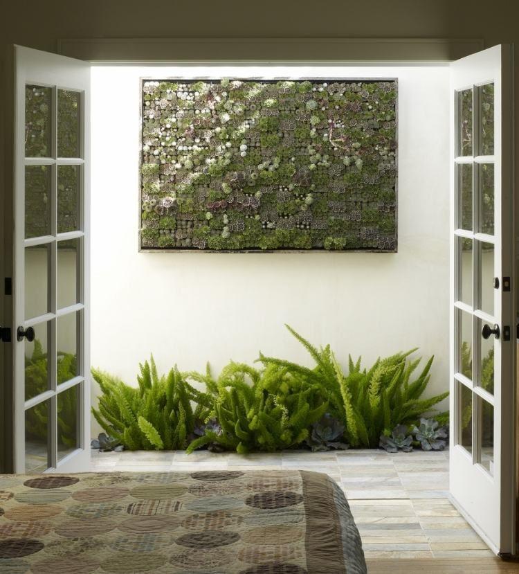 vertikaler garten aus sukkulenten für innen oder außen, Garten und Bauten