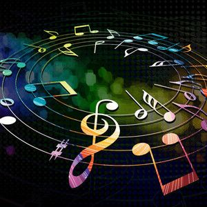 neon music notes backgrounds classical world of music