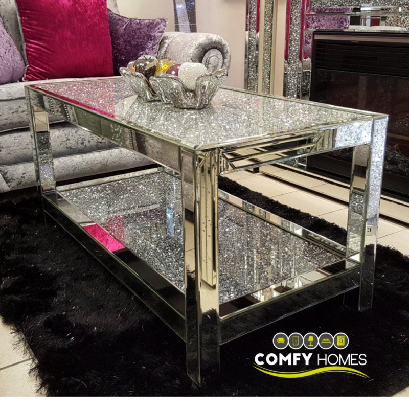 30 Mirrored Coffee Tables That Add A Sparkle To Your Home Sophisticated Living Rooms Purple Living Room Silver Living Room
