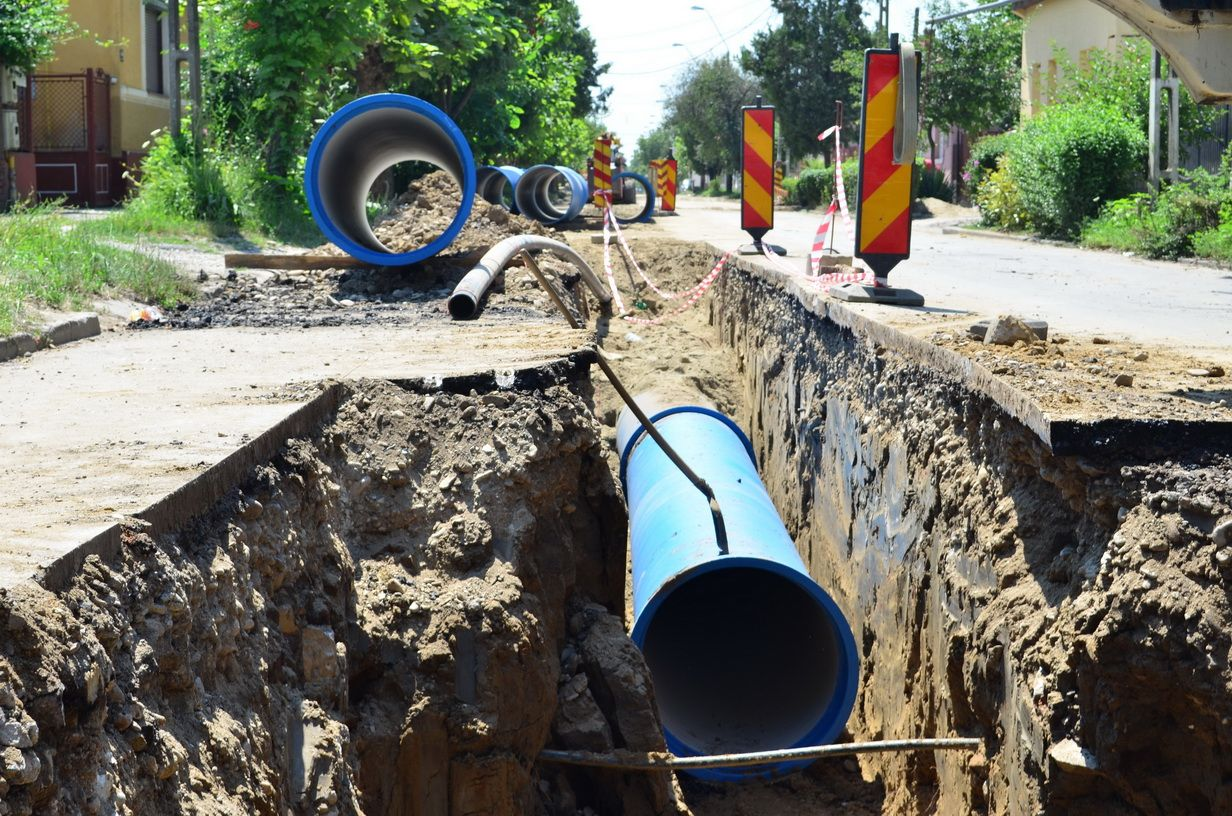 Civil works to fulfil ductile iron pipeline including demolishing