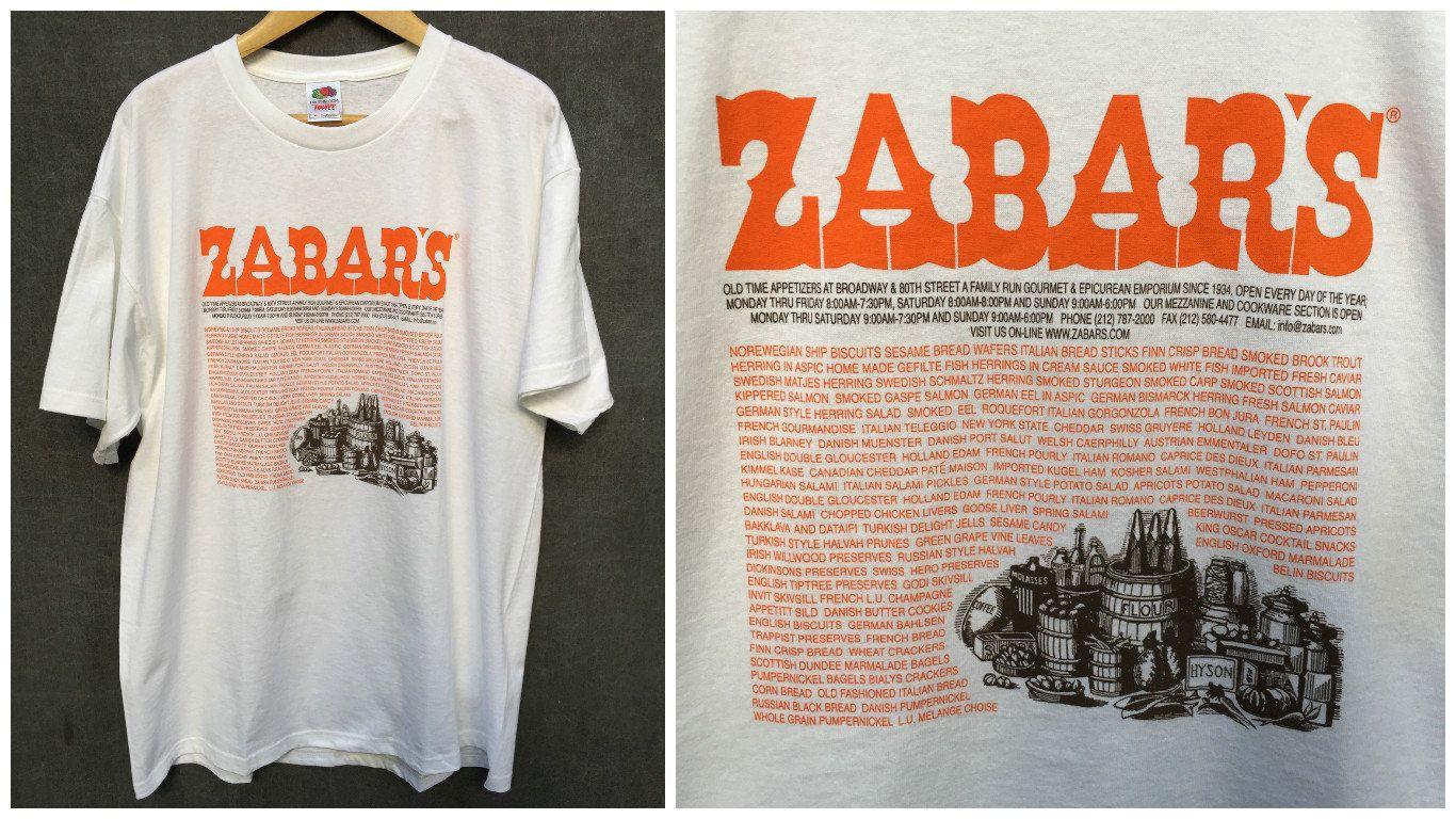 Vintage Zabar's New York Deli Fruit of the LoomT Shirt