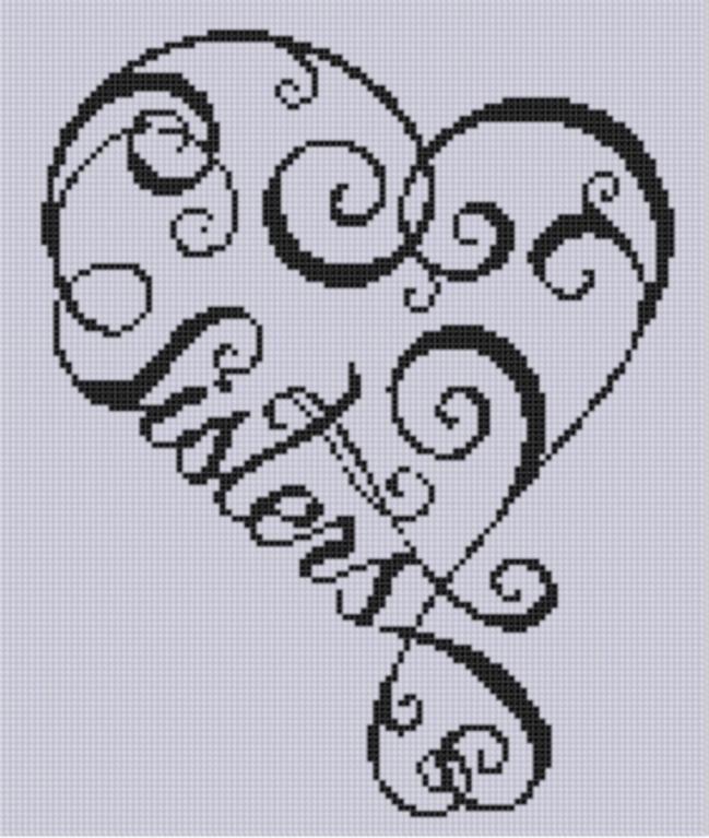 Sisters Heart Cross Stitch Pattern | PATRONES CORAZONES | Pinterest ...