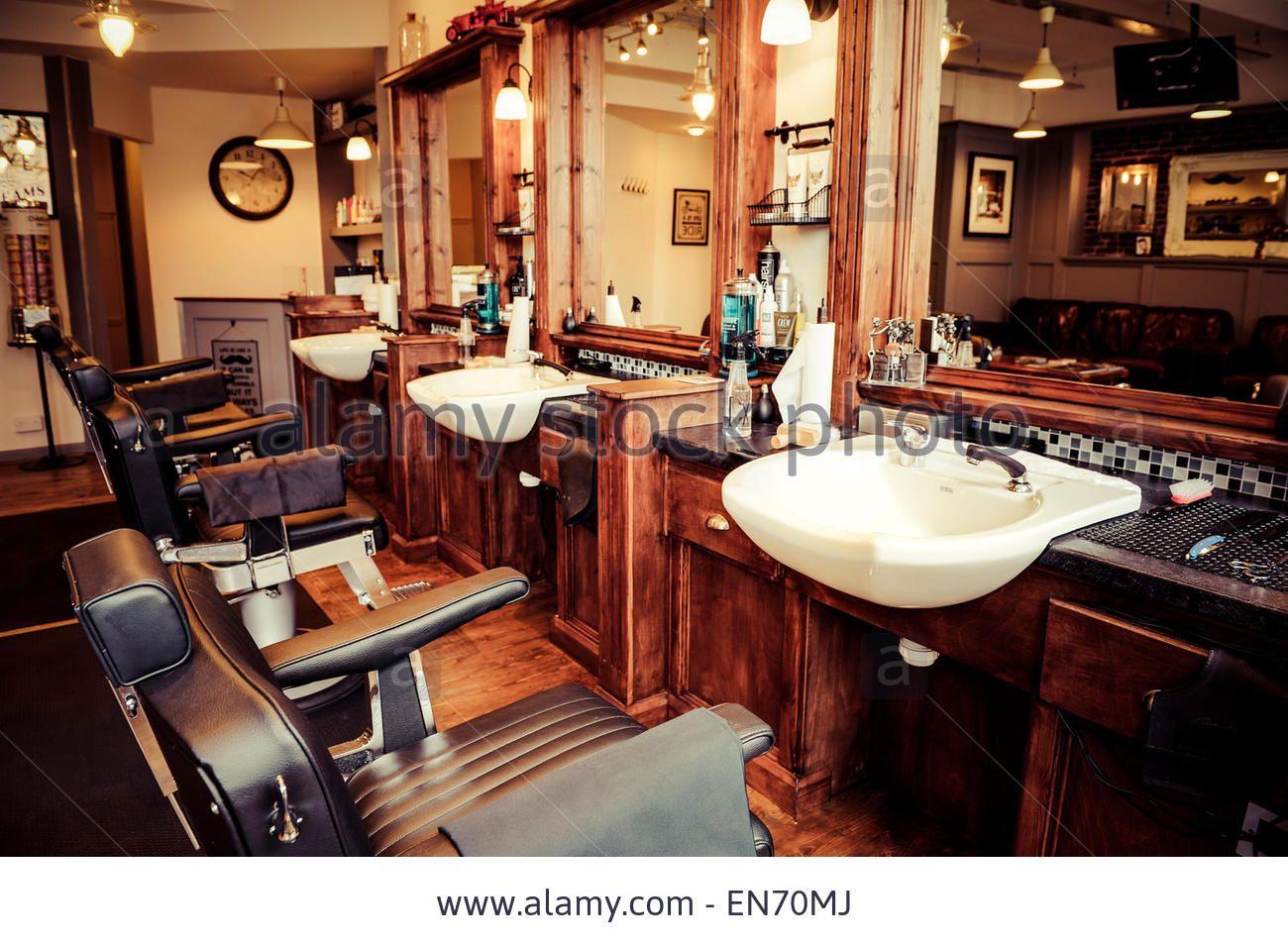 Men 39 s barber shop retro styled interior design stock photo barbershop pinterest barber - Barber shop interior ...