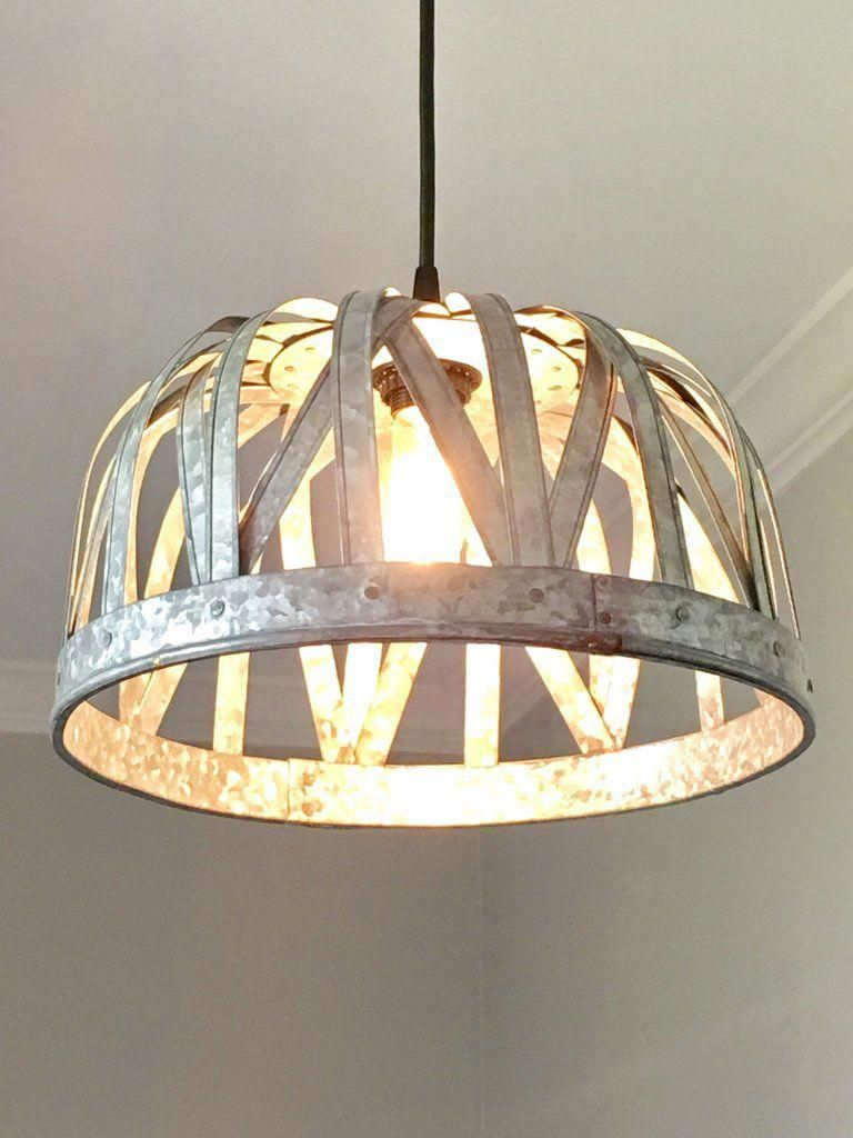 Galvanized Strap Basket Pendant Light Out Of The Woodwork Designs