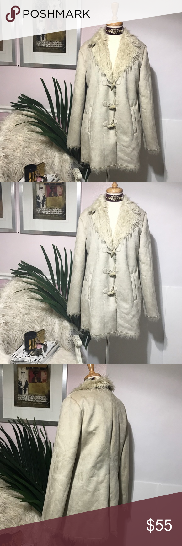 d4ce39125d Ivory White Faux Fur Beautiful Coat As seen house of she Jackets   Coats