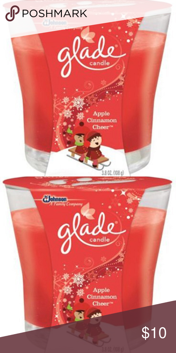 Glade Apple Cinnamon Cheer Scented Votive Candle Nwt Scented Votive Candles Votive Candles Votive Candles In Glass