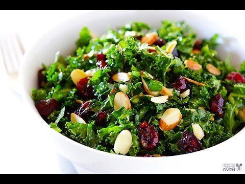 10 Day Detox Diet Recipes - Raw Kale Salad Recipe - YouTube