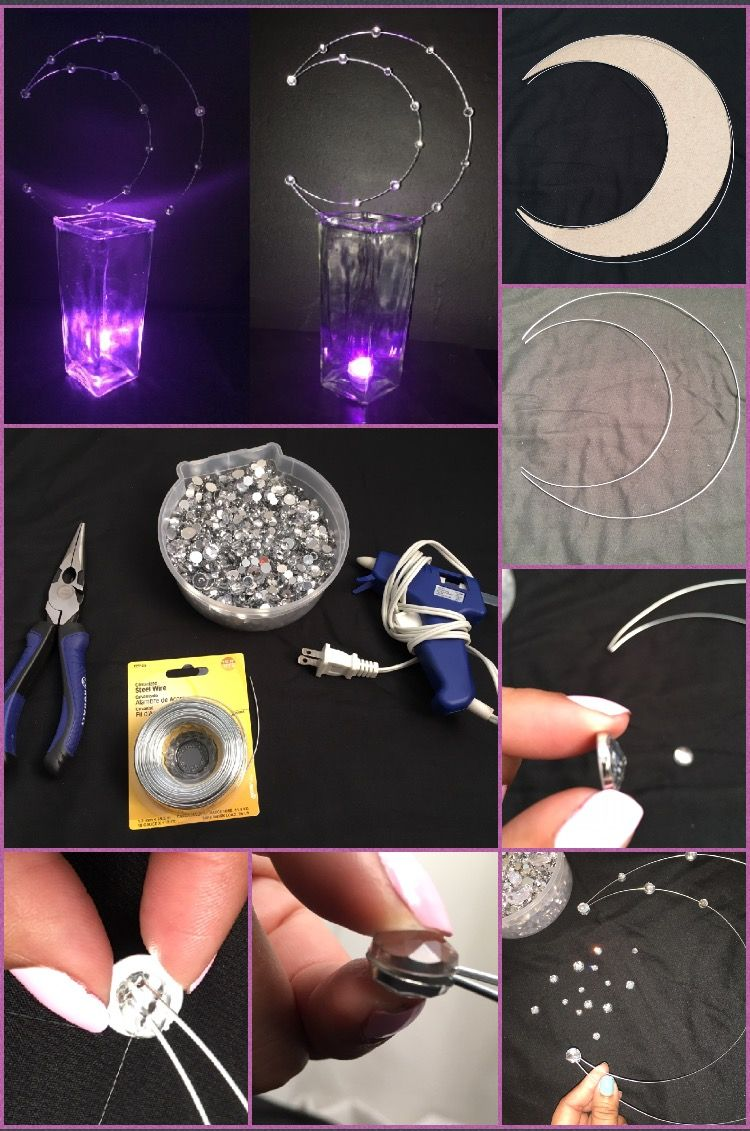Crescent Moon Centerpieces Moon Wedding Theme Starry Night Prom Moon Baby Shower