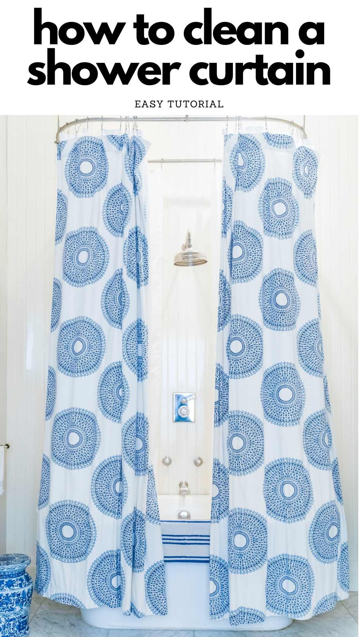 How To Clean A Shower Curtain In 2020 Shower Cleaner Clean