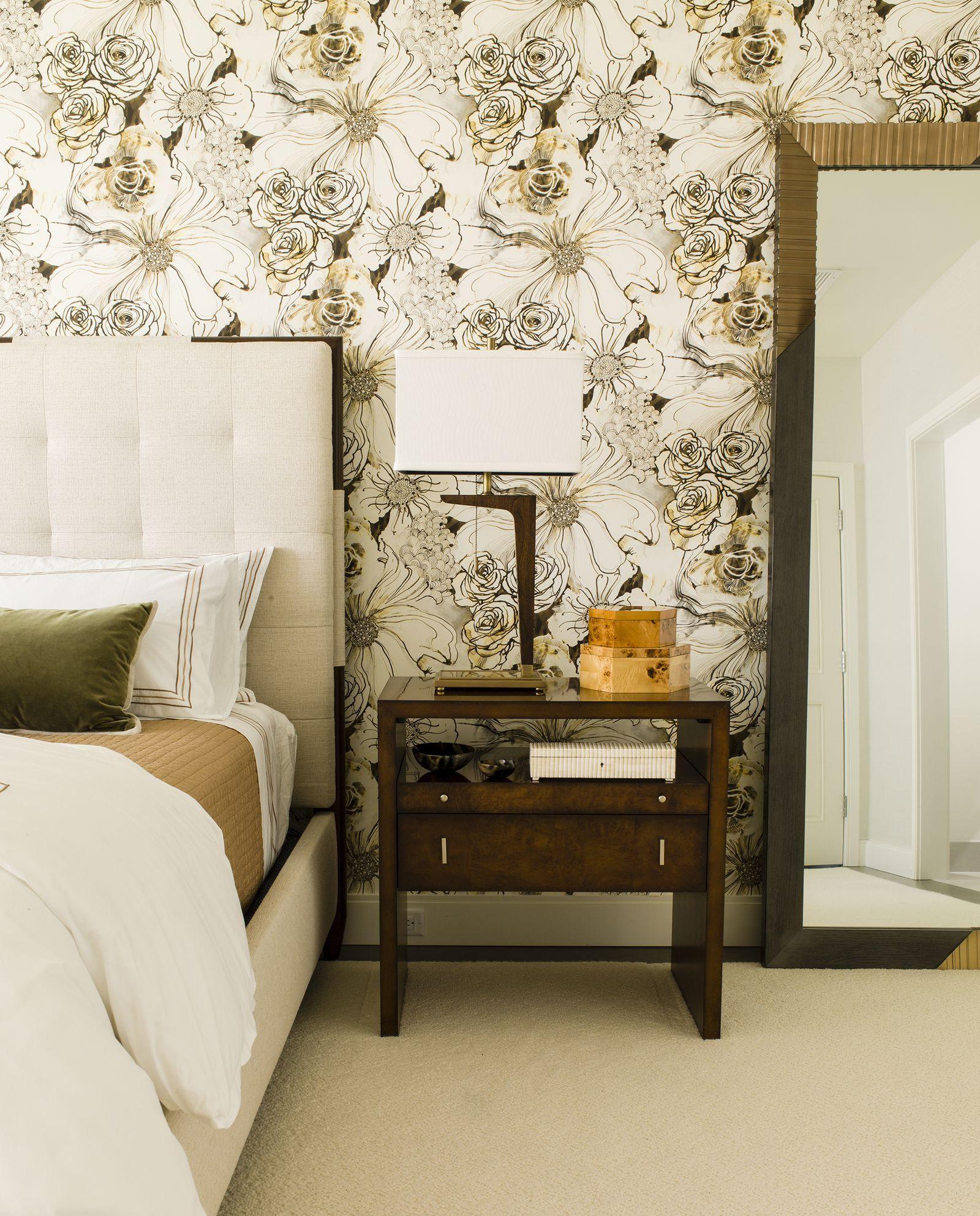 30 Bedrooms with Statement Wallpaper | Wallpaper design ...