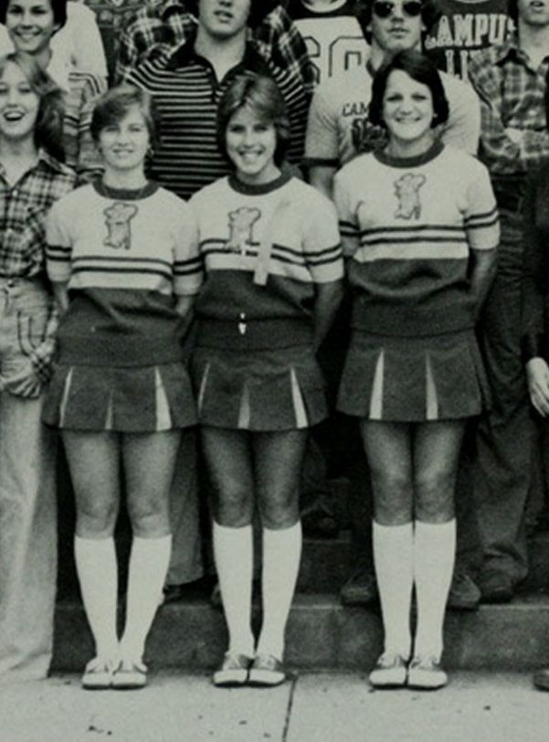 Birmingham Alabama High School 1978 Cheerleaders Texasretrocheer2 Tags White Socks High Shoes Cheerleader Cheerleading Outfits Cheerleader Girl Cheerleading