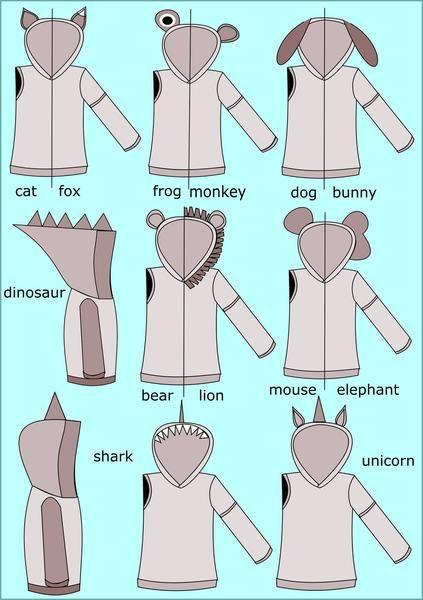 All Ears Hoodie Sewing Pattern (PDF) – max & meena Patterns | Sewing ...