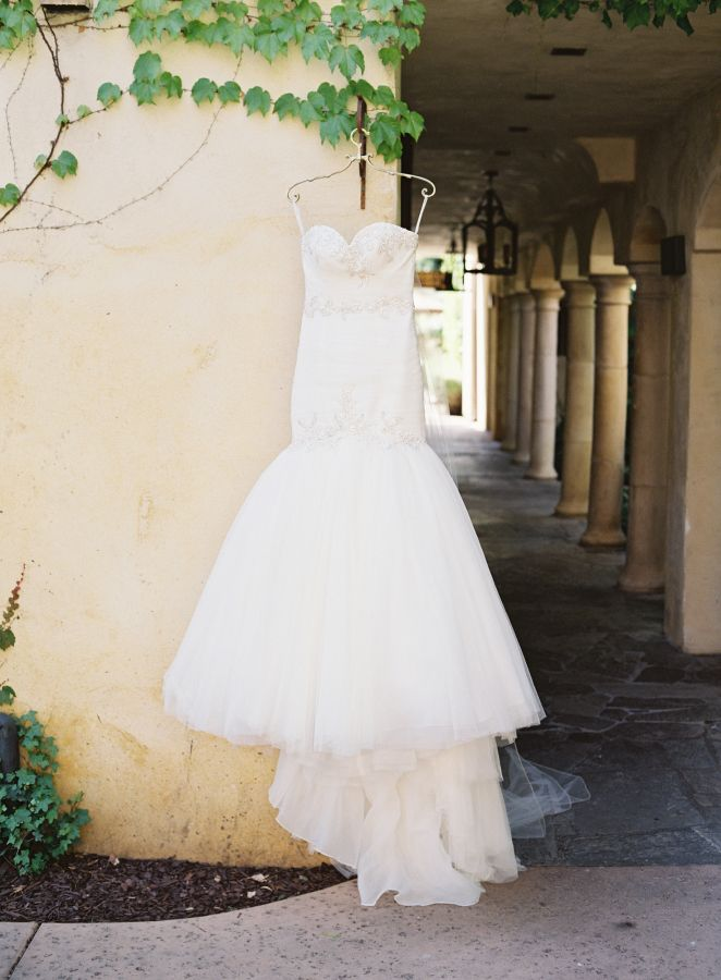 Gorgeous strapless trumpet style wedding dress: http://www.stylemepretty.com/2016/02/25/colorful-spring-garden-wedding-in-sonoma-valley/ | Photography: Brett Heidebrecht - http://brettheidebrecht.com/