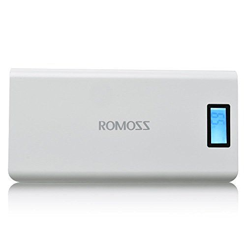 ROMOSS Solo 6 Plus 16000mAh Power Bank 2Port Portable Charger External Battery with 21A  1A Output Fast Charge for iPad iPhone 7SE66S Samsung Galaxy S76 Edge and More  White * Continue to the product at the image link.