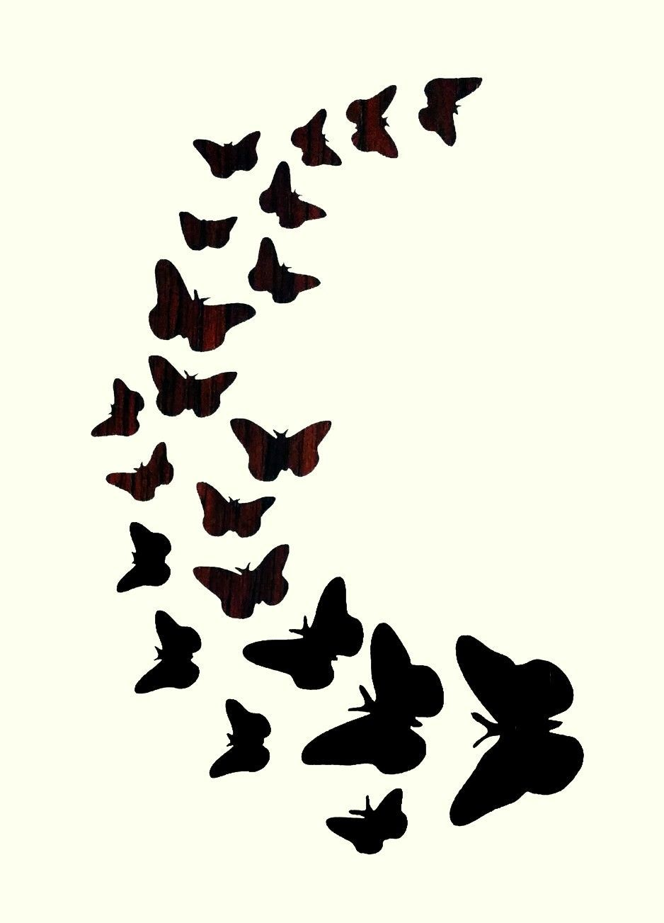 Butterfly Trail Stencil Crafts Signs Stencils Butterflies Wall