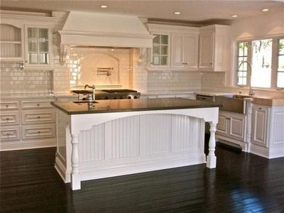 White Kitchen With Dark Floors  White Kitchen Cabinets Tile With Custom Design Of Kitchen Cabinets Design Inspiration