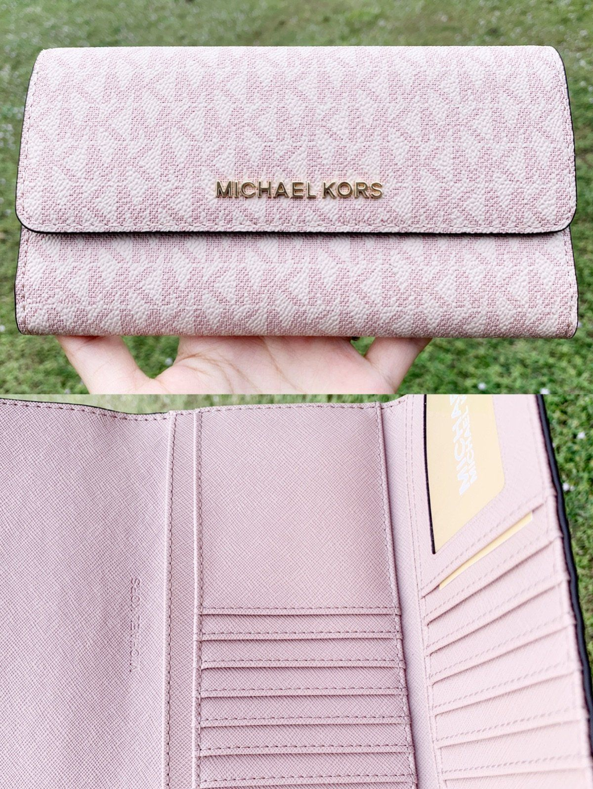 a0ab5f15683c Michael Kors Jet Set Travel PVC Large Trifold Wallet Fawn MK Ballet Pink   amazon  mercariapp  poshpackages  Handbags  ebaystore  amazonfashion  posh  ...