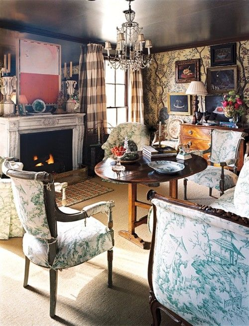 Cathy Kincaid S Dallas Living Room Once Again Cathy Kincaid S Brilliance Is Displayed Wish Loveseat Living Room Living Room With Fireplace English Interior