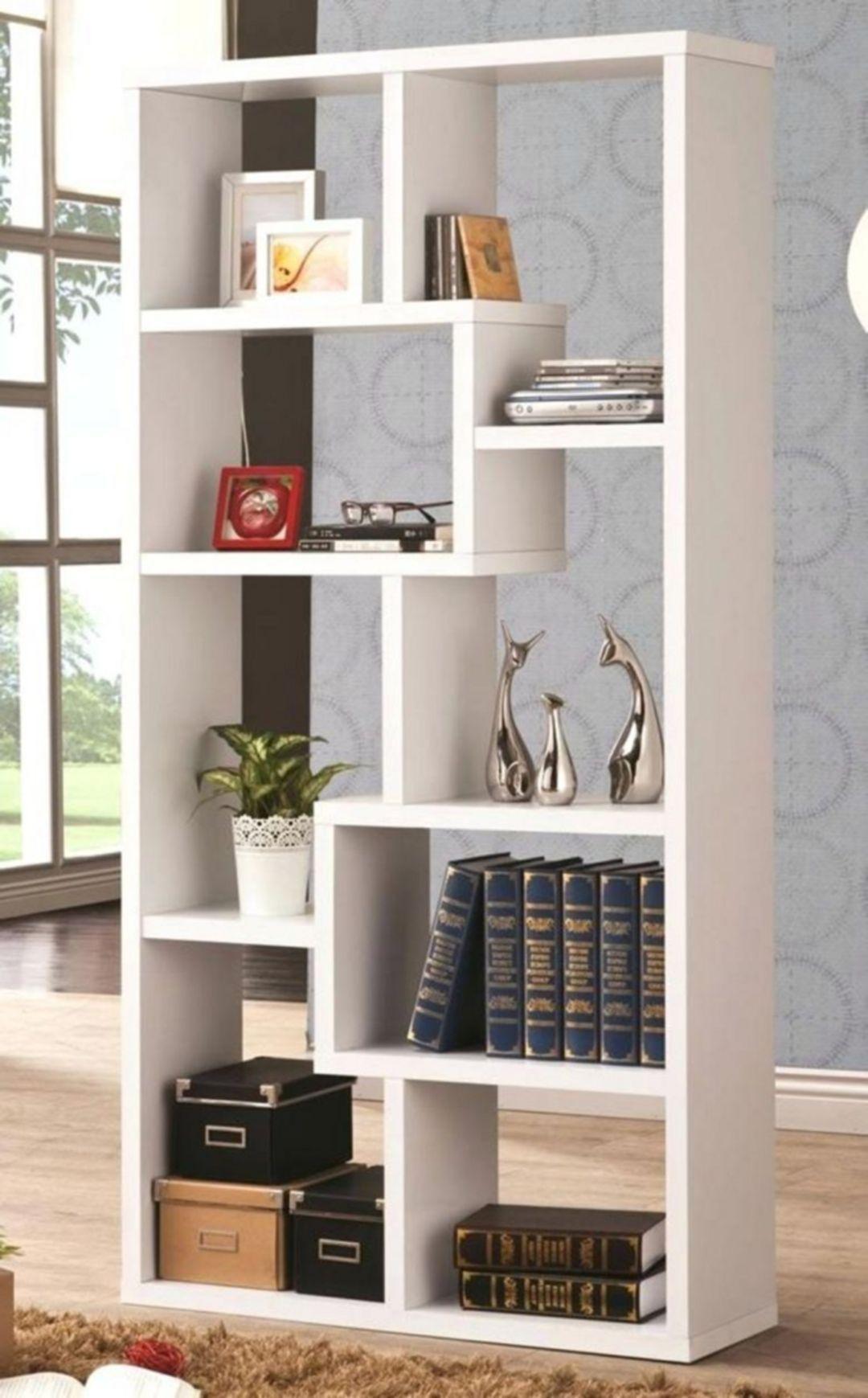 Cool Home Library Ideas: 15 Awesome Creative Minimalist Bookshelf Design Ideas For