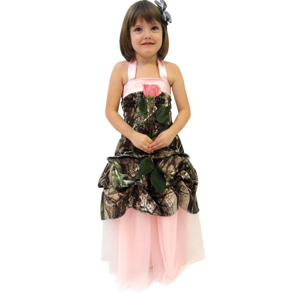 Realtree Camo Flower Girl Gown