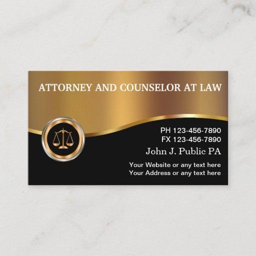 308 Best Attorney Business Cards Images In 2020 Attorney
