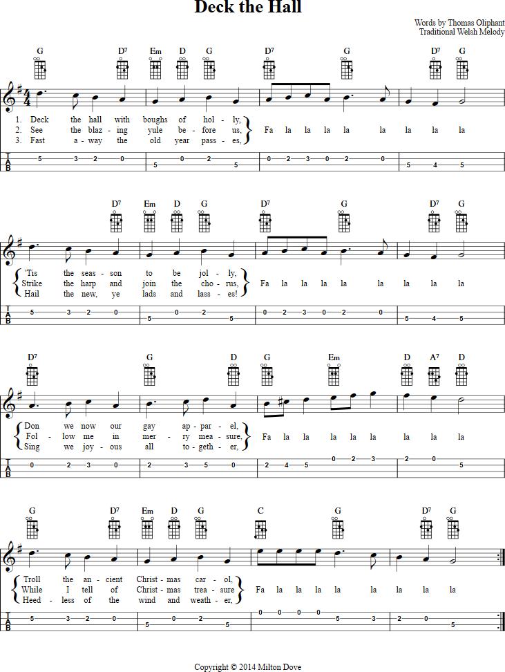 Deck The Hall Mandolin Tab Httpchordzonemusicmandolin