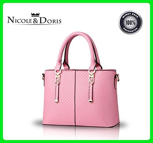 Nicole&Doris 2016 new handbag fashion female temperament stereotypes shoulder bag Messenger bag(Pink) - Shoulder bags (*Amazon Partner-Link)