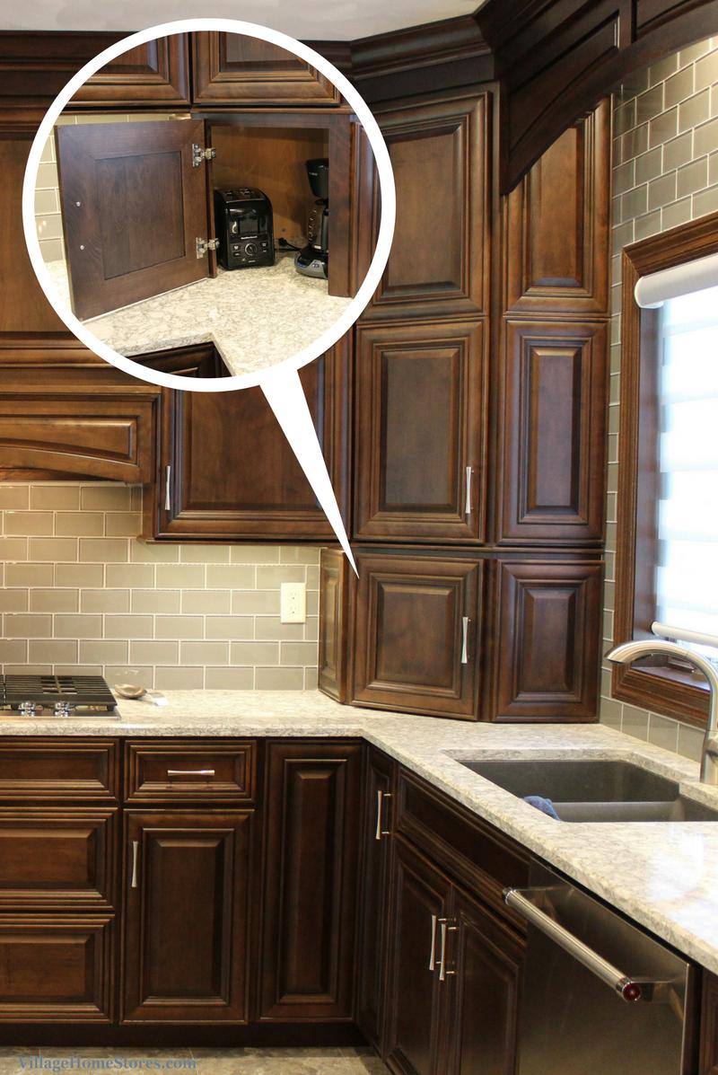 Geneseo il kitchen with cabinet door appliance garage