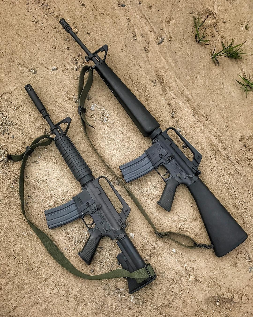 Comparison M-16 And The M-177 Commando.