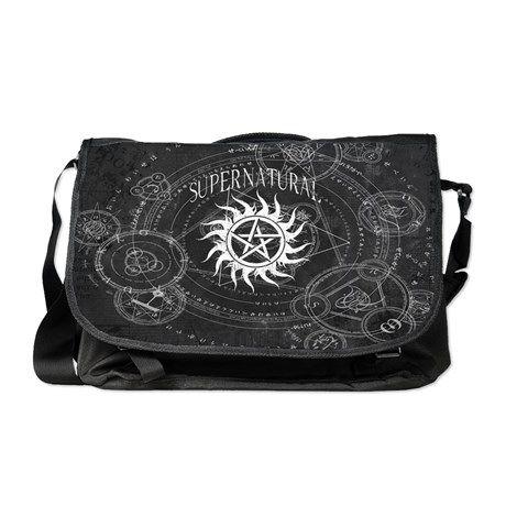 891c0f8be1 Supernatural Black Messenger Bag on CafePress.com