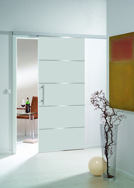 unsere accura in wei als schiebet r mit den eingelassenen streifen in edelstahl optik oder aus. Black Bedroom Furniture Sets. Home Design Ideas
