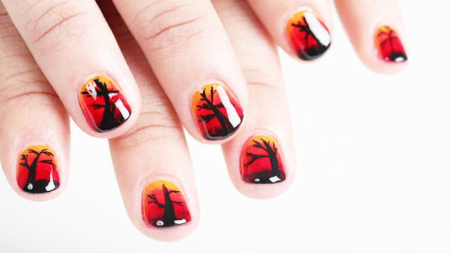 Nail Art How-To:  Fall Ombré Nails -Cosmopolitan.com