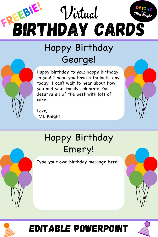 Virtual Birthday Cards Virtual Birthday Cards Teacher Birthday Card Birthday Cards