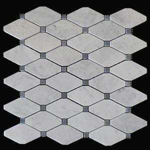 Carrara Marble Italian White Bianco Carrera Rhomboid Long