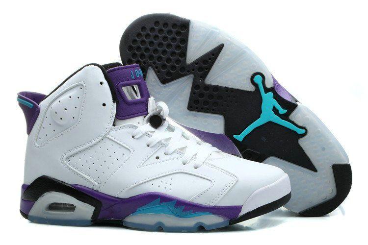 Authentic blue purple white shoe for jordans 6 retro basketball nba sneaker 2015