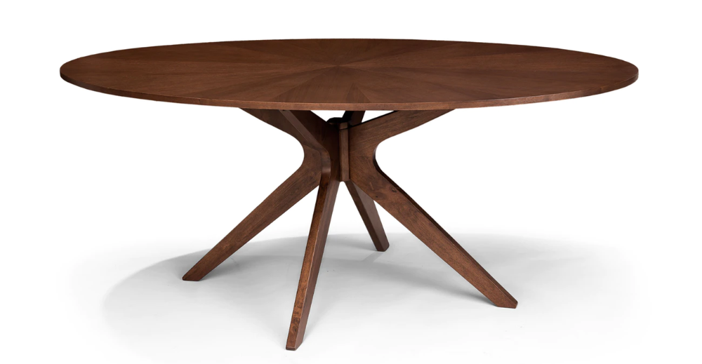 Conan Oval Dining Table Oval Table Dining Midcentury Modern Dining Table Oval Kitchen Table
