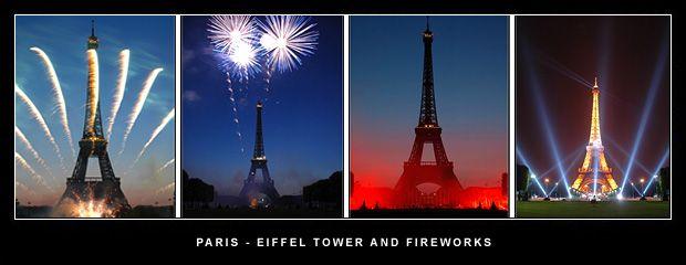 bastille day paris fireworks eiffel tower