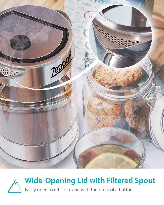 Zeppoli Electric Kettle Bpa Free Fast Boiling Glass Tea