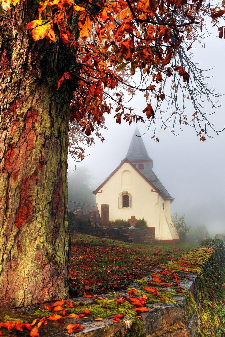 Église | Vieilles églises de campagne, Paysage automne, Paysage romantique