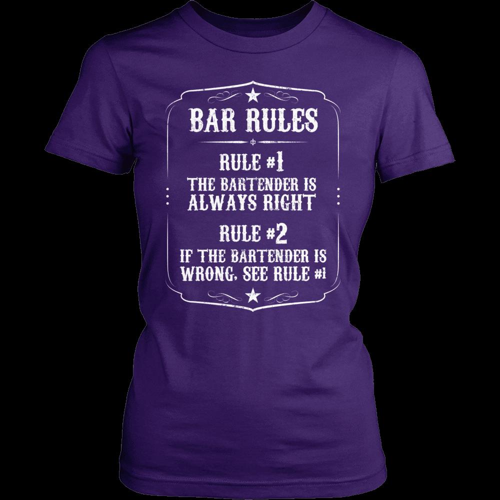 Shirt design rules - Bartender Shirt Bar Rules Snazzyshirtz Com