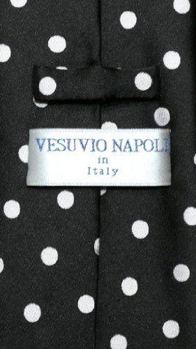 Vesuvio Napoli BLACK w/ WHITE Polka Dots NeckTie Handkerchief Matching Tie Set  http://www.yourneckties.com/vesuvio-napoli-black-w-white-polka-dots-necktie-handkerchief-matching-tie-set/