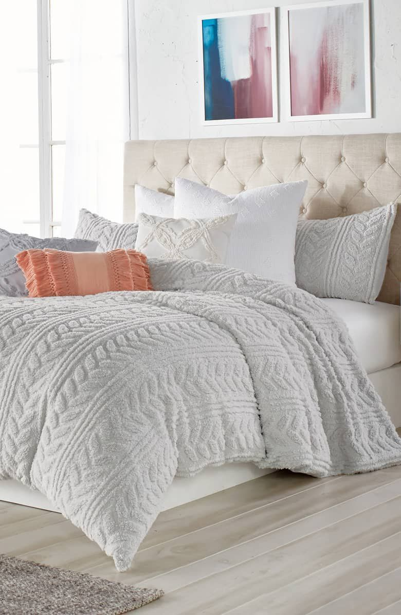 Peri Home Cable Knit High Pile Fleece Comforter Sham Set With