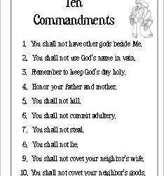 THE TEN COMMANDMENTS CATHOLIC DOWNLOAD