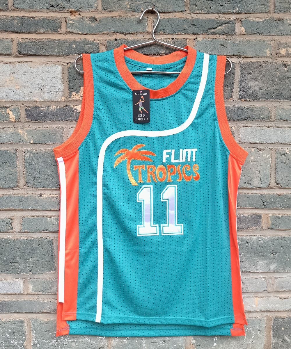 61a517f8876 Brand LIANZEXIN  11 ED Monix Jersey Flint Tropics Semi Pro Movie  Embroidered Blue Mens Basketball Jersey Wholesale Price